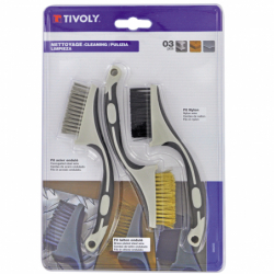 Lot de 3 mini-brosses...