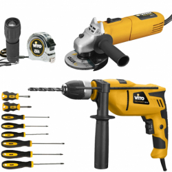 Pack 6 Outils Vito Perceuse...